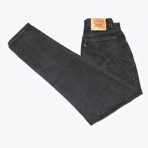 868c306a Vintage Levi's 512 Black High Waisted Mom Jeans 29